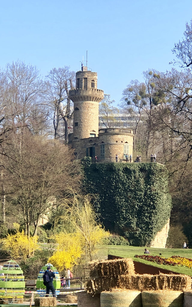 exterior rapunzels tower ludwigsburg palace fairy tale gardens