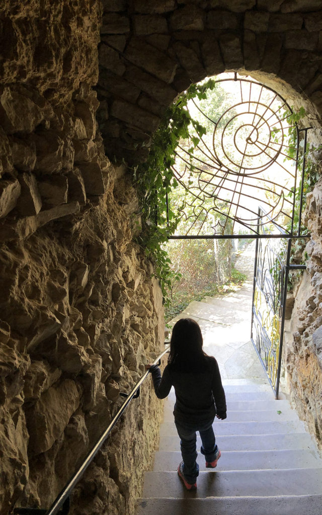 inside stairway rapunzels tower ludwigsburg fairy tale gardens 2019